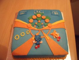 Sonic 2 Birthday Cake by MegWhiteIII