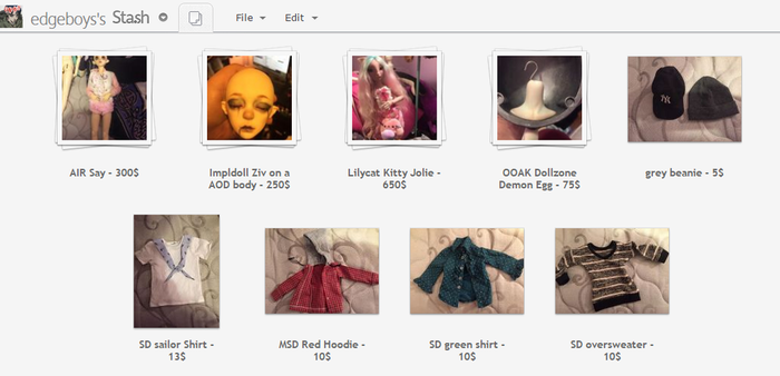 BIG BJD SALE BLOWOUT : MANY DOLLS FOR SALE by edgeboys