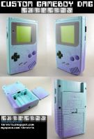 Custom Baby Blue Gameboy v2 by Thretris