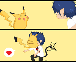 Rin And Pikachu 2 by Ca14