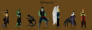 Darkstar Character Lineup 2 by Silvre