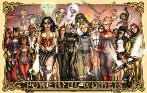 Women of DC and Marvel by AdamWithers