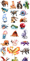POKEDDEX 2015 RANDOMIZED - PAINTINGS FOR SALE