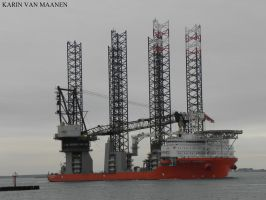 Cypriot offshore supply ship Pacific Osprey 2012- by roodbaard1958