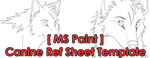 [MS Paint] Female/Male Canine Ref Sheet Template by The-Nutkase