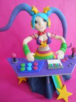 Figurine of Aracade Sona in polymer Clay. by Phaneres