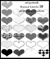 Theme Heart Photoshop Brushes2 by seiyastock