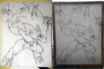 Zoroark on Canvas by TheWhiteScatterbug