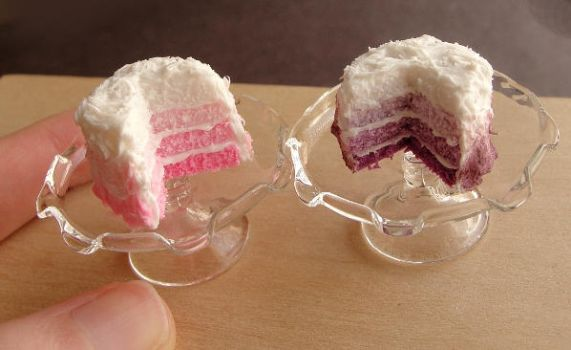 Dollhouse Ombre Cakes by fairchildart