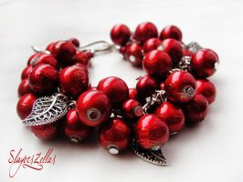 Bracelet - Cherry fruits by Benia1991
