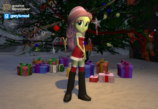 [DL] Fluttershy (Christmas version) by Stefano96