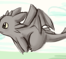 Toothless running xD by sunshineikimaru