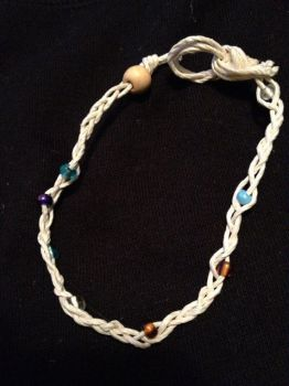 Nautical White Cord Bracelet with Multi-Colored by VirtuosityArts