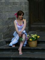sitting on the church steps by Narayu