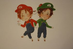 Mario and Luigi..? by partymursu