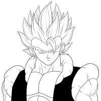 Super Gogeta. :Lineart: by moxie2D