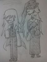 Nazel and Undertaker chibi by lune-brues