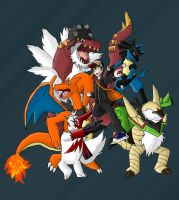 Pokemon Y Team by FireReDragon