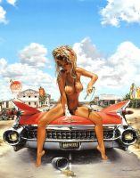CADDY BABE ... ARTWORK BY ... ''DAVE NESTLER'' ... by SAN666