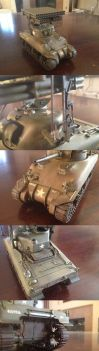 MONOGRAM 1/32 Sherman M4A1 with Calliope launcher by enojado