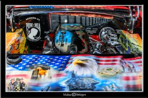56 Chevy Engine Compartment by mahu54