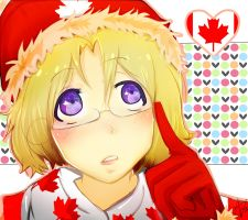 Canadaa~ with Le-hat by Maisami-chan