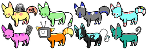 Baby Electronic Wolf Adopts ..::OPEN::.. by love-the-adopts