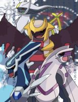pokemons legends and my team by asterisk-2