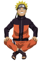 Naruto Uzumaki sitting - Lineart Colored by DennisStelly