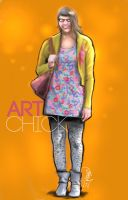 Art School Chick by aMorle