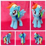 Rainbow Dash Open Wing Plushie by equinepalette