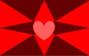 Red Hearts and Stars by GothicRockerGirl