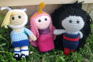Adventure time gals by Lassarina-Jewelry