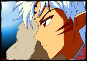 Sesshomaru's serious face by FeniksStar