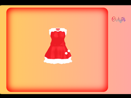Santa Dress MMD DL by CutyCakies