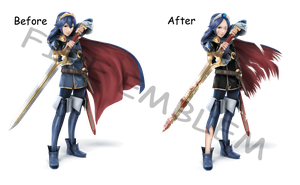 Lucina -before- Battle Worn -after- by Neku-Sai-Sakuraba