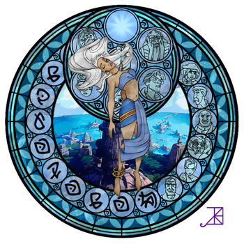 Kida's Stained Glass Window by Akili-Amethyst
