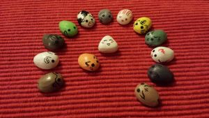 Fruits Basket Painted Stones by TheFreckledLeaf