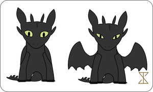 Toothless in my art style 1.2 by Sandman-Ivan