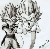 Gotenks and kamikaze ghost by myworldmycapture