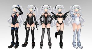 Black Heart Neptunia V MMD download by Reon046