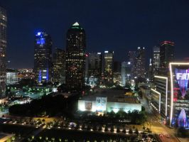 DOWNTOWN DALLAS, TEXAS AT NIGHT by KerensaW