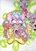 pawz and her minons by skullpunk666girl