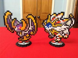 Pokemon: Lunala and Solgaleo- Hama Designs by Dogtorwho