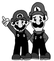 Mario and Luigi Old Cartoon. by gamerman77