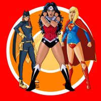 Batgirl, Wonder Woman and Supergirl-The New 52 by RabidDog008