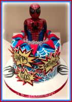 Spiderman Pop Up Cake! by gertygetsgangster
