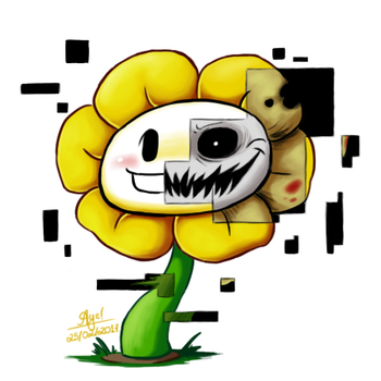 Glitch Flowey by YourSuperHeroine