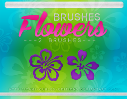 +RECURSOS Y MAS: Brushes Flowers~~ by CAMI-CURLES-EDITIONS