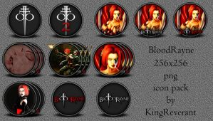Bloodrayne  256 png icon pack by KingReverant
